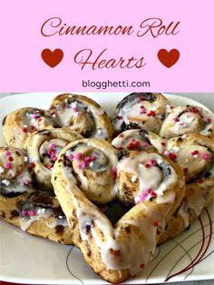 Cinnamon Rolls Hearts, Valentine's Day, breakfast Cute Breakfast Ideas, Sweet Breakfast, Breakfast Muffins, Valentines Breakfast, Valentines Day Food, Brunch Recipes, Sweet Recipes, Bread Recipes, Holiday Recipes