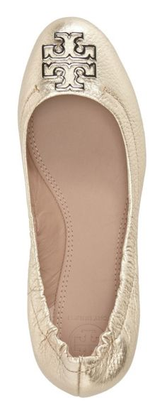 This darling gold Tory Burch ballet flat is sure to make a sparkling statement.