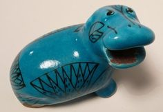 Vintage William The Hippo Pottery Sculpture by designthroughtime etsy.com