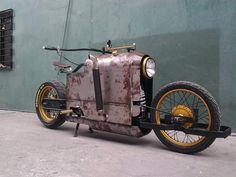 "steampunktendencies: "" Mikhail Smolyanov's design became real? Steampunk Bike by Jeff Ylagan """