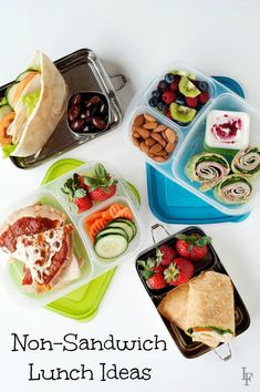 Easy non sandwich school lunch Ideas for the whole family that are easy to make and everyone will love!