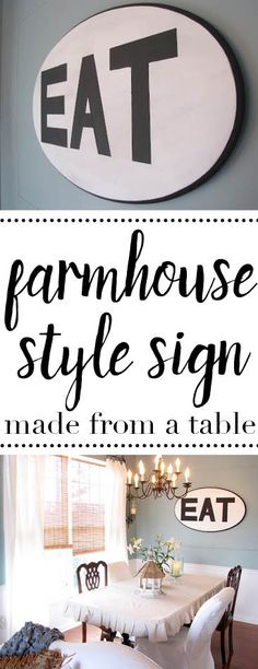 Upcycling: a farmhouse style sign from a coffee table
