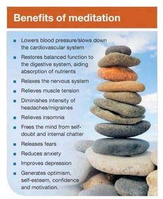 Benefits of meditation.