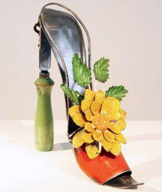 Repurposed Garden Art from Garden Tools.