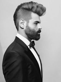 A well-groomed beard (and fancy coif) on this tuxedoed gent. Via Handsome Gentleman on tumblr.