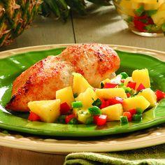 Pineapple Salsa Chicken Recipe! YUM