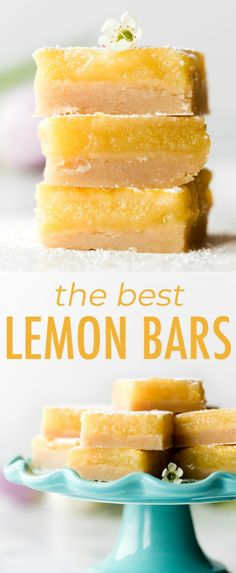 You only need 7 ingredients to make these lemon bars. The lemon curd filling is extra thick and creamy and sits on an irresistible butter shortbread crust. Recipe on sallysbakingaddic… Lemon Dessert Recipes, Lemon Recipes, Köstliche Desserts, Baking Recipes, Cookie Recipes, Delicious Desserts, Recipes Using Lemon Curd, Drink Recipes, Lemon Curd Dessert