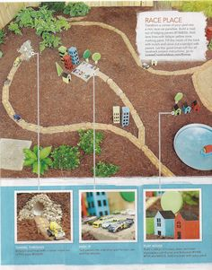 outdoor play area - small world play/imaginative play out of doors