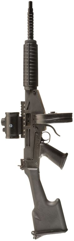 Masterpiece Arms MPA-71 rifle - the design was based around the Suomi 71 round drum magazine. It is a Frankenstein of sorts consisting of (basically) FN/FAL lower mated to a MAC-11 upper, uses AR15 carbine handguards, a SAW buttstock.