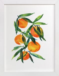 Tangerine by Alexandra Dzh at minted.com