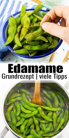 Edamame - the perfect snack! - Vegan Heaven Rezepte ♡ - Edamame, unripe soybeans from Japan are simply the perfect snack! With their sweet, nutty taste, the - Vegetarian Breakfast, Vegetarian Recipes, Snack Recipes, Healthy Recipes, Vegetarian Kids, Kid Recipes, Healthy Snacks, Healthy Eating, Healthy Protein