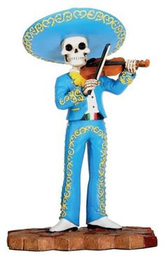 """Day of the Dead - Mariachi Band - Violin (Male) - Cold Cast Resin - 5.5"""" Height by World Figurines - Day of the Dead, http://www.amazon.com/dp/B003H9CO82/ref=cm_sw_r_pi_dp_oI0zqb1V8AZFJ"""