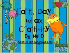 Earth Day Lorax Craftivity Freebie - Re-pinned by @PediaStaff – Please Visit http://ht.ly/63sNt for all our pediatric therapy pins