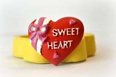 1079 Sweet Heart Valentine mold Silicone Rubber by MasterMolds