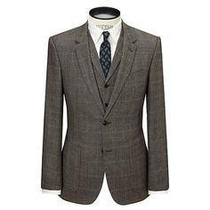 Buy JOHN LEWIS & Co. Hanbury Milled Prince of Wales Check Suit Jacket, Biscuit Online at johnlewis.com