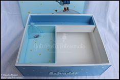 """Caixa de recordações de batismo """"Pequeno Príncipe""""."""