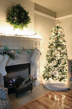 Christmas Mantel and Tree Night