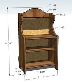 Ana White | Build a Cute Play Pie Hutch | Free and Easy DIY Project and Furniture Plans