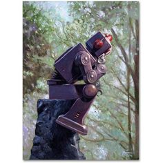 Trademark Fine Art The Collator Canvas Art by Eric Joyner, Size: 35 x 47, Multicolor