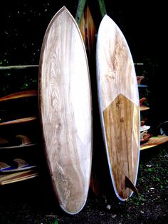 Wooden Surfboards: Vinny's new boards