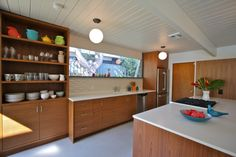 One of my favorite projects: my pal Ki Rubin's Eichler kitchen I got to share in the redesign, Eichler Kitchen Remodel