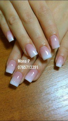 French manicure acrylic nails set