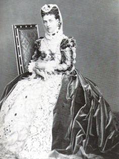 Princess Alexandra of Denmark, Princess of Wales later Queen Alexandra for the Waverley Ball c.1871