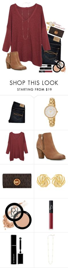 """""""Going to silver dollar city tommrow❤️✌️"""" by anna-watson00 ❤ liked on Polyvore featuring Abercrombie & Fitch, Kate Spade, Violeta by Mango, ALDO, MICHAEL Michael Kors, Susan Shaw, Paula Dorf, NARS Cosmetics, Givenchy and Kendra Scott"""