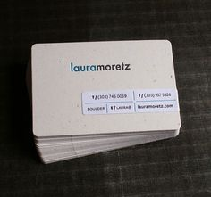 Laura Moretz Business Card - lovely in its simplicity.
