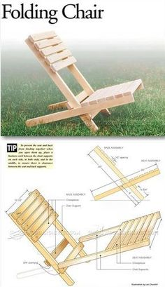 Folding Chair Plans - Outdoor Furniture Plans & Projects | WoodArchivist.com