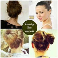 Get the Look   Miranda Kerr's Chic Top Knot: 10 Inspiring Bun Tutorials #Beauty #Hair
