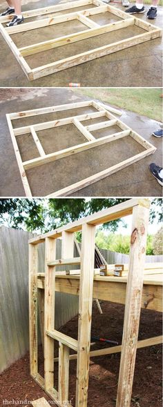 building homemade playhouse