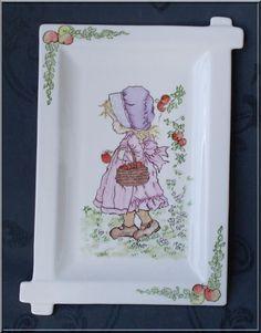 peinture sur porcelaine: Sarah Kay. Made in Méluse