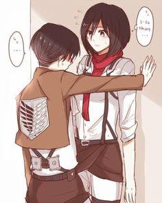 Rivaille (Levi) x Mikasa Ackerman | BWAHAHA OMG. I don't ship it at all but OMG too funny