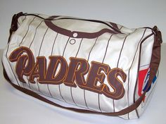 Vintage 1987 SAN DIEGO PADRES Baseball Pepsi Canvas Duffle Bag Gym Tote Luggage
