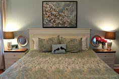 DIY Headboard {master bedroom update}