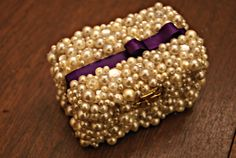 Gift Ideas | Delta Phi Epsilon | pin box decked in pearls w/ bow, DPhiE