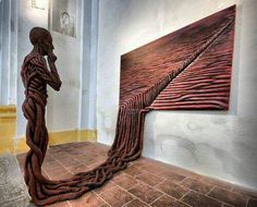 """Saatchi Art is pleased to offer the sculpture, """"Escape into reality (what does a painting thinks?),"""" by Michal Trpak. Original Sculpture: Mixed Media on Other. Modern Art, Contemporary Art, Instalation Art, Sculpture Painting, Art Sculptures, 3d Painting, Art Installations, Bronze Sculpture, Watercolor Paintings"""