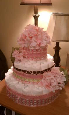 Diaper cake I made for my sister's baby shower! ;)