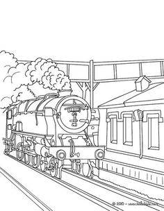 Train Station Outside Scene Coloring Page You Can Print Out This But Also Color Online