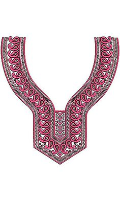 Bohemian Fashion Style | Neck Yoke Gala Embroidery Design