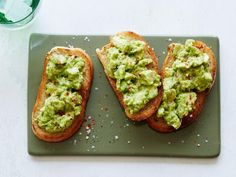 Get Avocado Toasts Recipe from Food Network