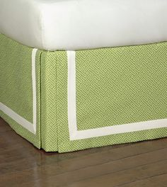 Cato Lime Skirt from Eastern Accents-guestroom Eastern Accents, Luxury Bedding Collections, Sewing Box, Diy Bed, Drapes Curtains, Drapery, Linen Bedding, Custom Bedding, Bed Linens