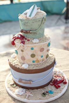this would be my wedding cake if i were to get married on the beach