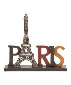 'Paris' Eiffel Tower Sign