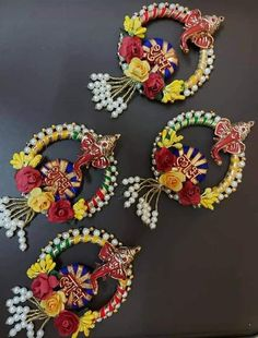 Diwali Diy, Diwali Craft, Handmade Decorative Items, Handmade Crafts, Nylon Flowers, Fabric Flowers, Diwali Gift Hampers, Diwali Decoration Items, Door Hanging Decorations