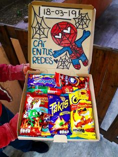 Box with sweets - Box with sweets - Bf Gifts, Couple Gifts, Gifts For Boys, Boyfriend Gifts, Gifts For Him, Cute Birthday Gift, Birthday Gift Baskets, Diy Birthday, Candy Gift Baskets