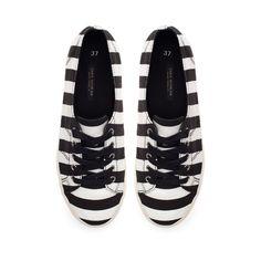 STRIPED SNEAKERS - Flats - Shoes - Woman - ZARA Serbia