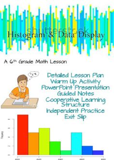 This lesson focuses on creating 6th Grade Statistics covering Histograms.This is a comprehensive lesson so the teacher will only have to download the product and then print out copies with their students.This lesson covers the first 6th Grade Common Core Math Standard of:6.SPA.2Understand that a set of data collected to answer a statistical question has a distribution which can be described by its center, spread, and overall shape…