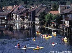 Kayaking in Ornans, France